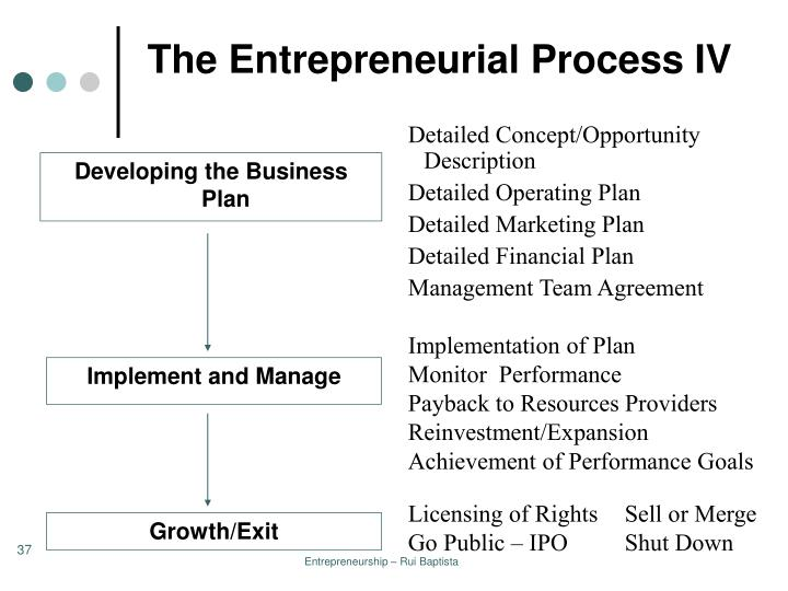 The Entrepreneurial Process IV