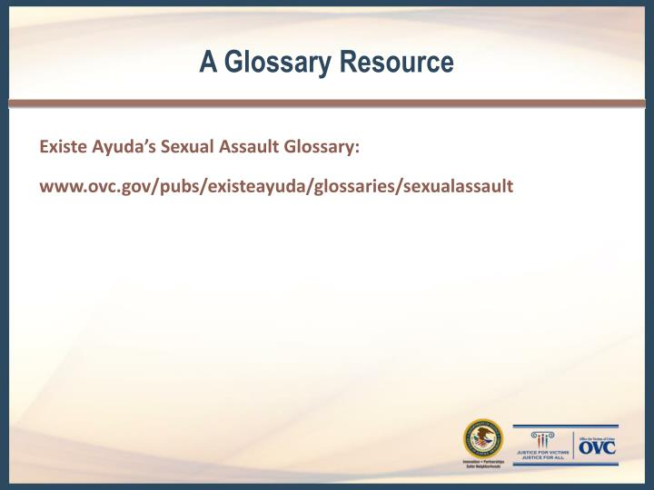 A Glossary Resource
