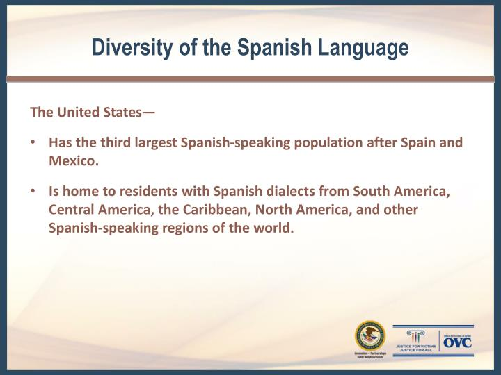 Diversity of the Spanish Language