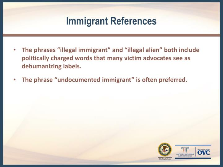 Immigrant References