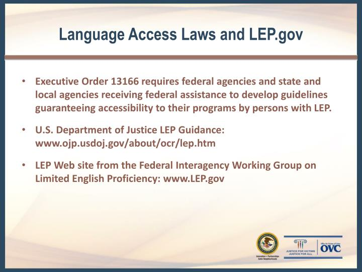 Language Access Laws and LEP.gov