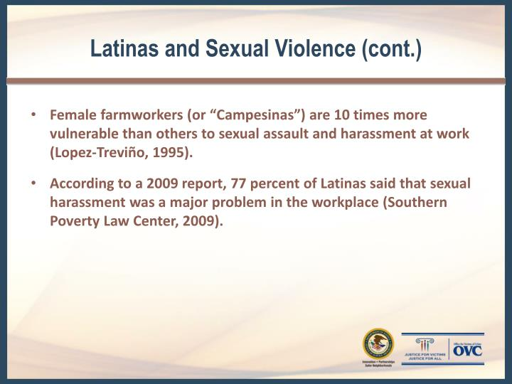 Latinas and Sexual Violence (cont.)