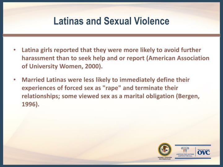 Latinas and Sexual Violence
