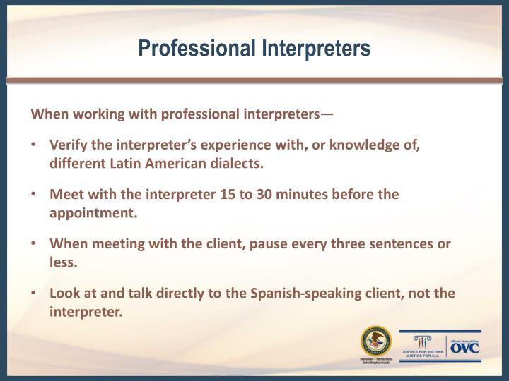 Professional Interpreters