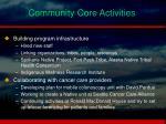 community core activities