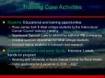 training core activities