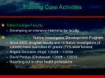 training core activities1
