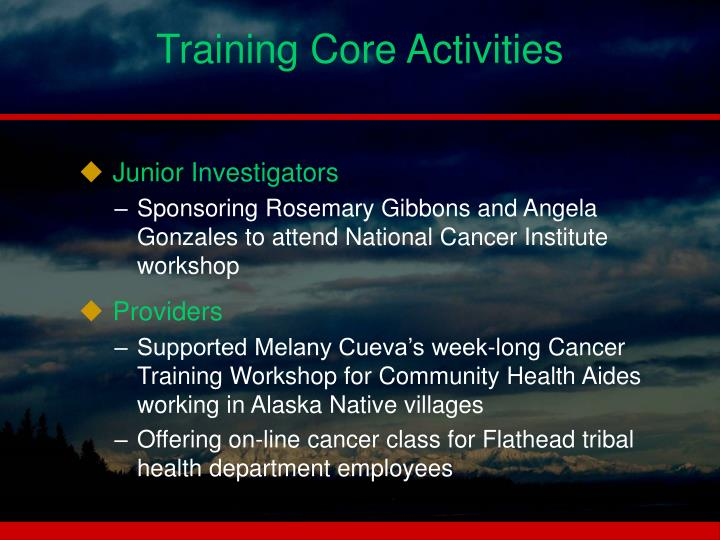 Training Core Activities