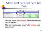 admin cost per child per class form1