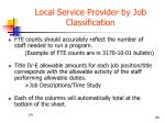 local service provider by job classification3