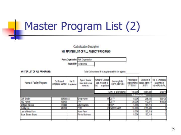 Master Program List (2)