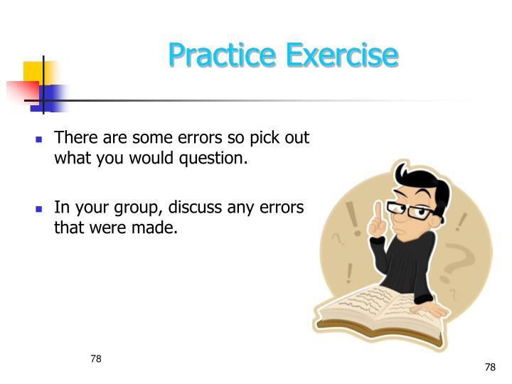 Practice Exercise