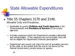 state allowable expenditures