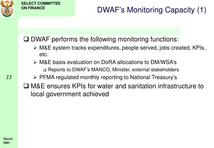DWAF's Monitoring Capacity (1)