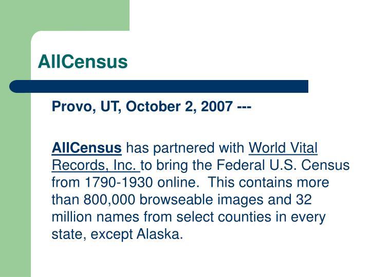 AllCensus