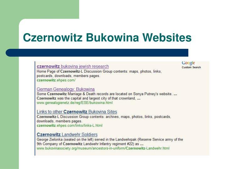 Czernowitz Bukowina Websites