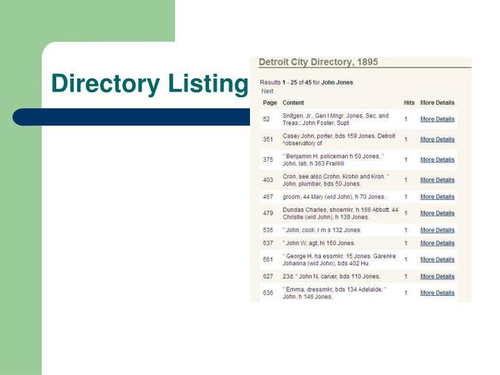 Directory Listing. . . . . . .