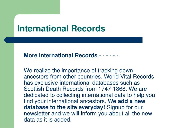 International Records