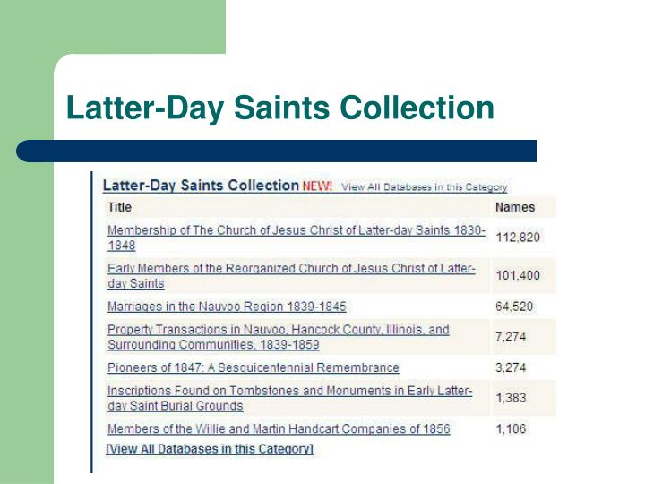 Latter-Day Saints Collection