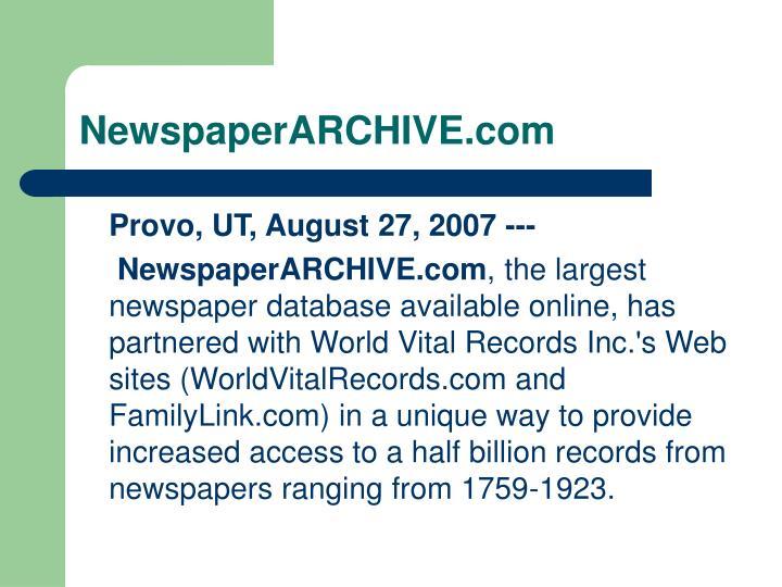 NewspaperARCHIVE.com