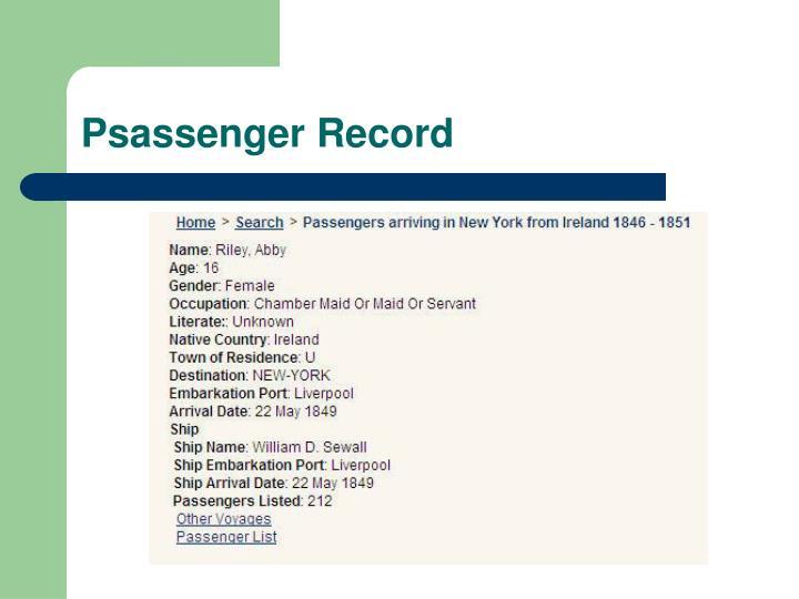 Psassenger Record
