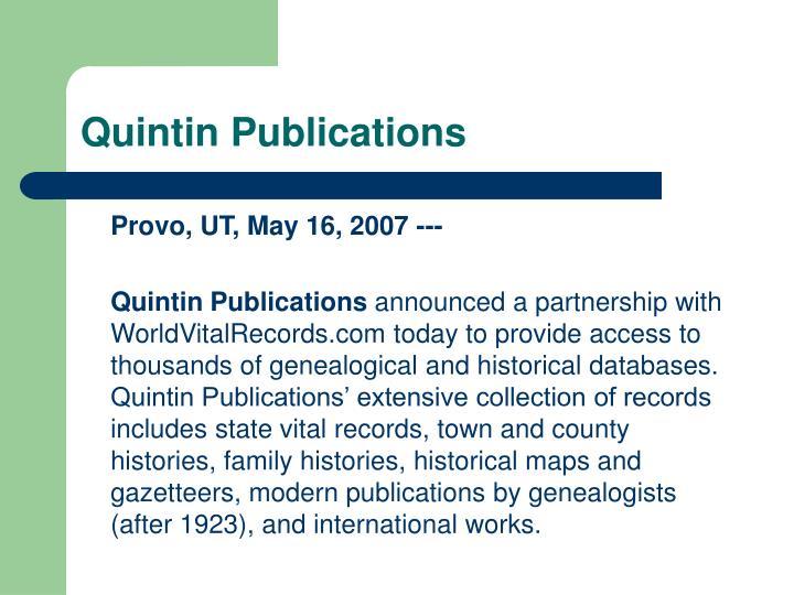 Quintin Publications