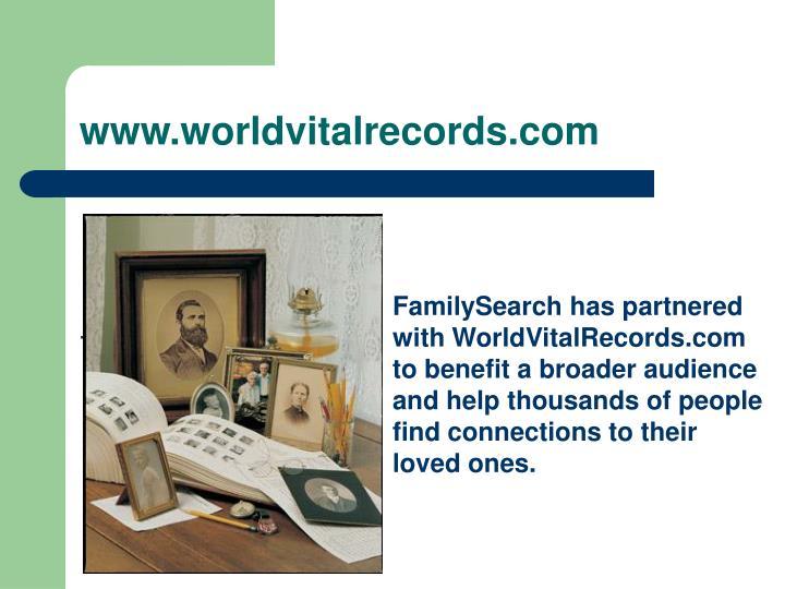 www.worldvitalrecords.com