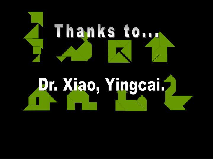 Thanks to...