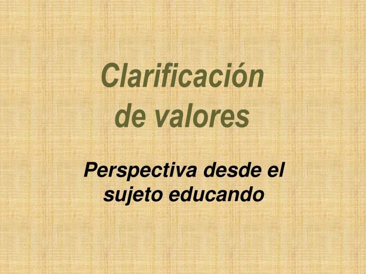 Clarificación