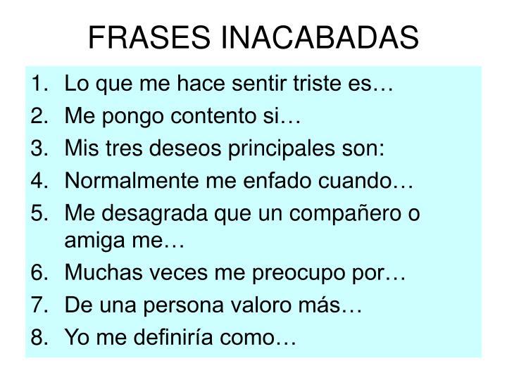 FRASES INACABADAS