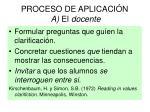 proceso de aplicaci n a el docente
