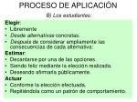 proceso de aplicaci n b los estudiantes