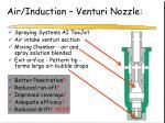 air induction venturi nozzle