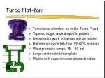 turbo flat fan