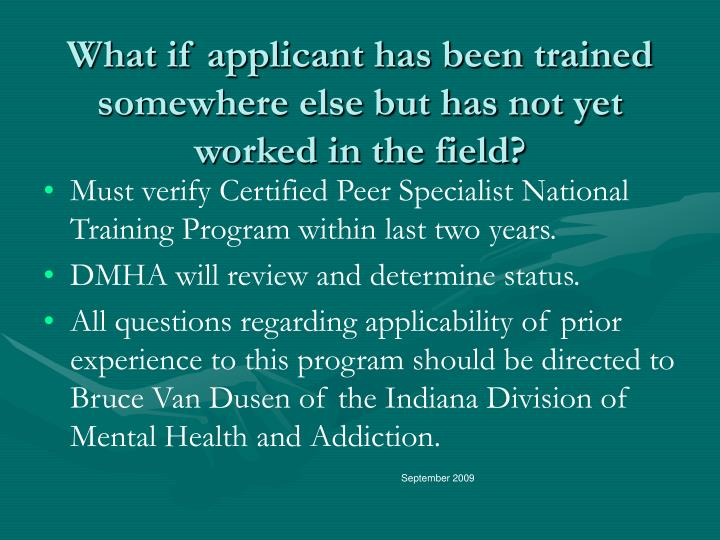 Pcp Specialist Certification Indiana