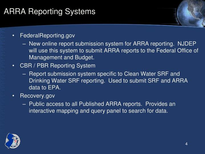 ARRA Reporting Systems