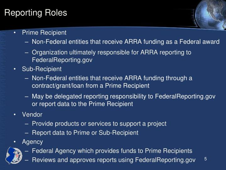Reporting Roles