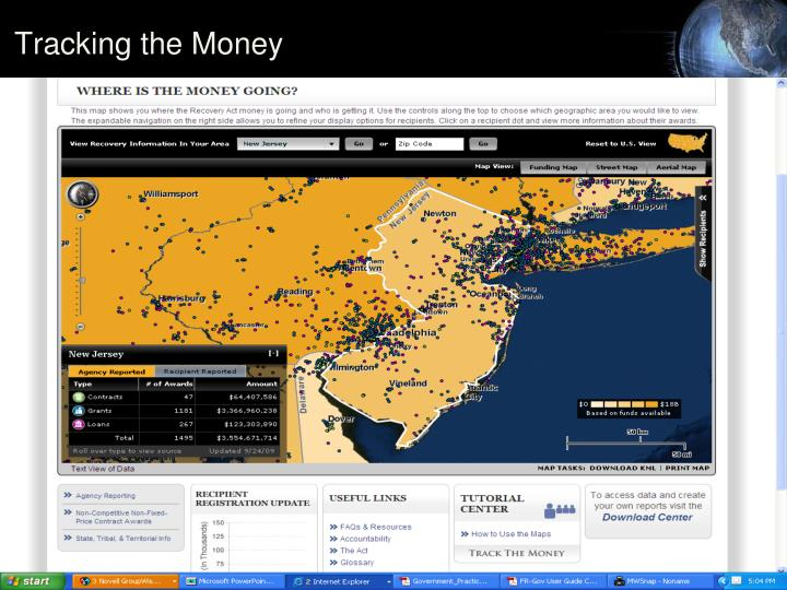 Tracking the Money