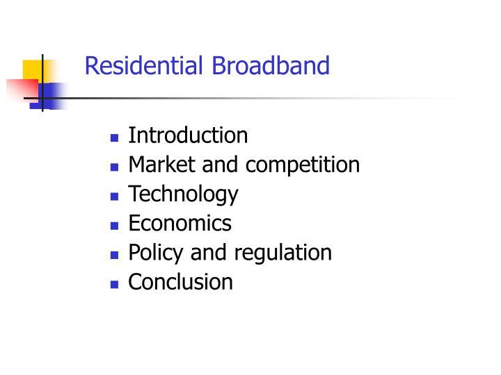 Residential Broadband