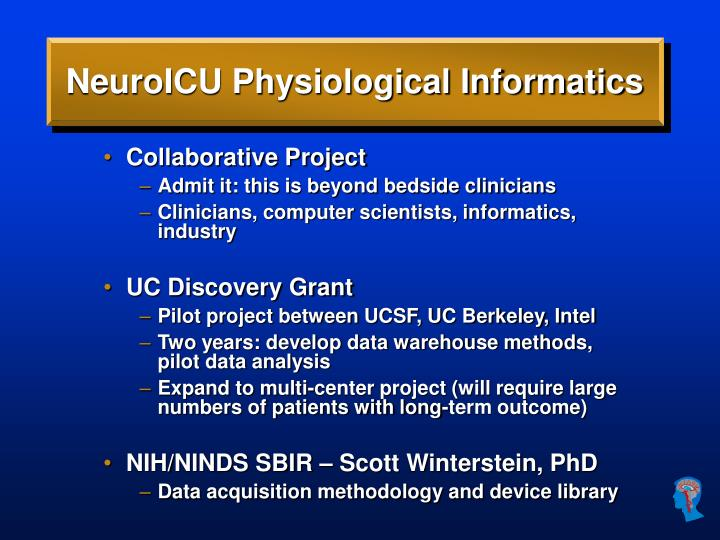 NeuroICU Physiological Informatics