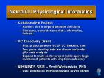 neuroicu physiological informatics