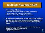 nicu data acquisition 2009