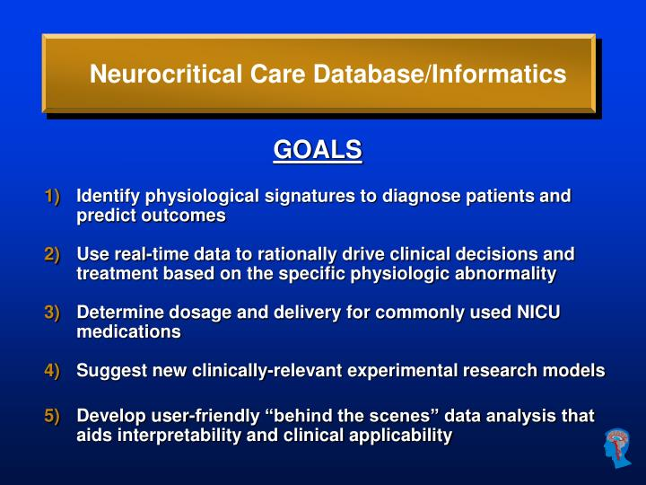 Neurocritical Care Database/Informatics