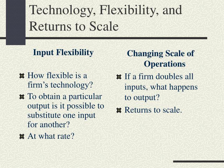Input Flexibility