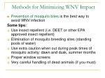 methods for minimizing wnv impact