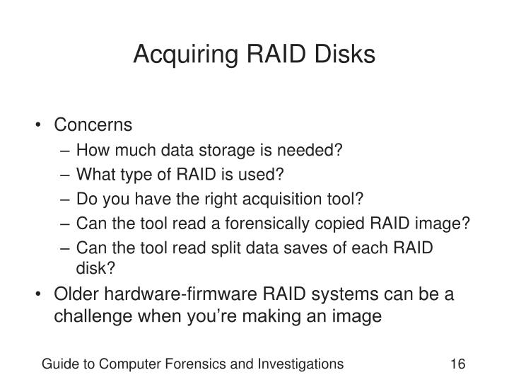 Acquiring RAID Disks