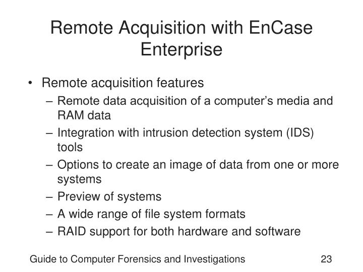 Remote Acquisition with EnCase Enterprise