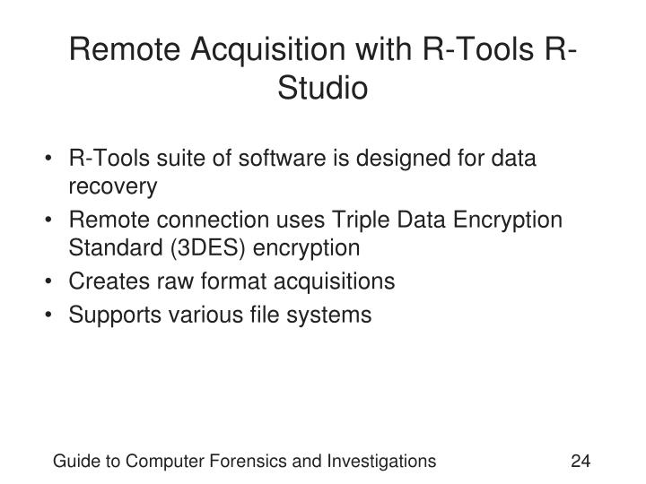 Remote Acquisition with R-Tools R-Studio