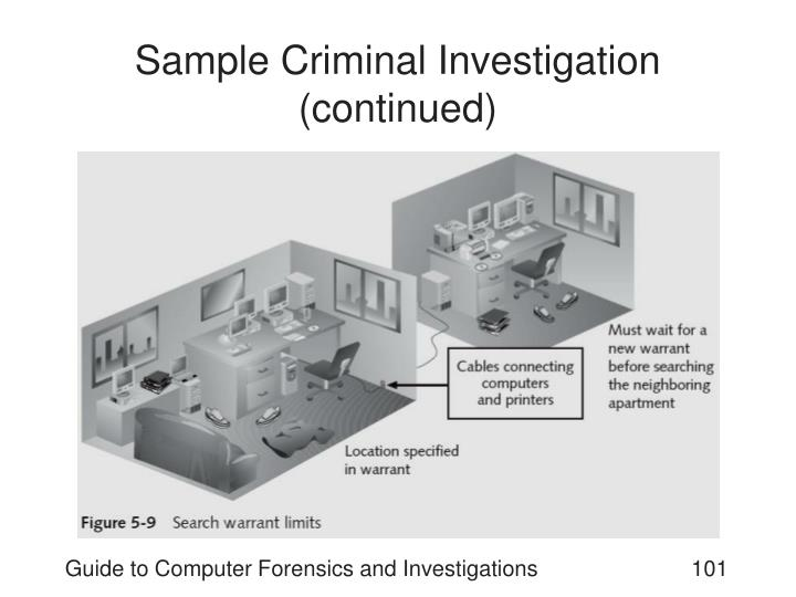 Sample Criminal Investigation (continued)