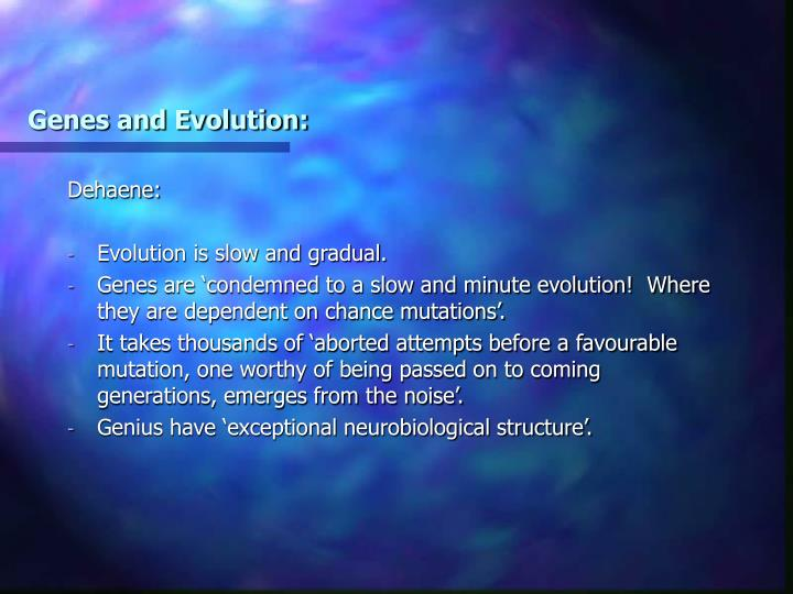 Genes and Evolution: